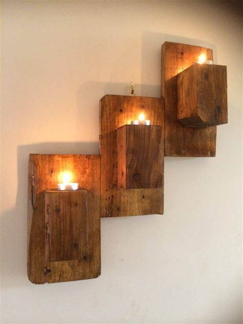 wall mounted pallet candle holders 101 pallet ideas