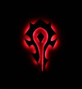 World Of Warcraft Horde Night Lights  Horde Sign  Wow