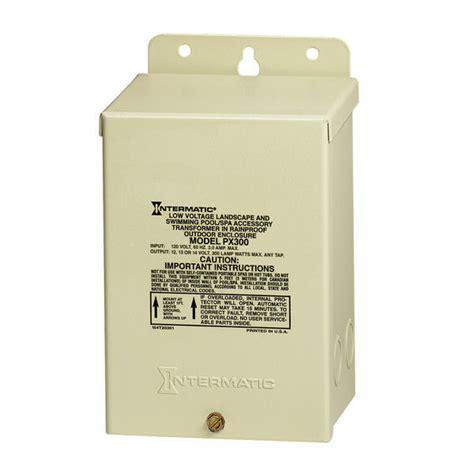 low voltage pool cage lighting intermatic px300 low voltage transformer 300 watt