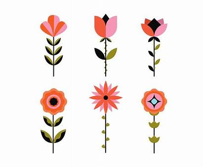Geometric Clipart Flowers Vector Flower Graphics Cliparts