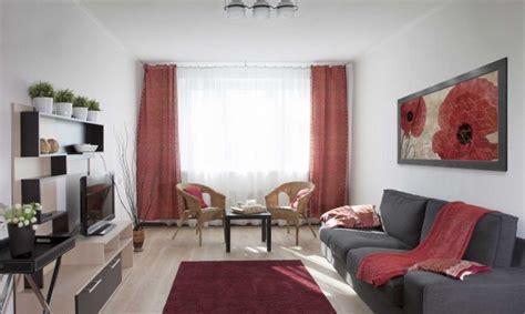 sala de color rojo gris  beige hogarmania