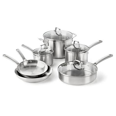 Kitchen Essentials Calphalon Stainless Steel Reviews by Calphalon Stainless Steel Cookware Set Minimalist Baker