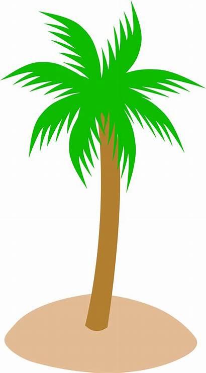Palm Clip Island Tree Cartoon Sand Clipart