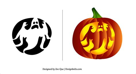 halloween scary pumpkin carving patterns stencils