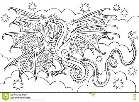 foto da disegnare in bianco e nero pagina con il disegno in bianco e nero drago per