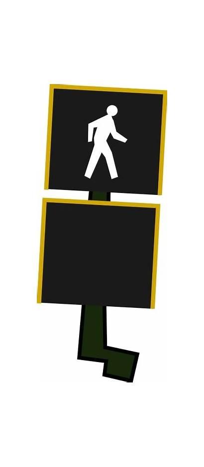 Crosswalk Signal Cross Pedestrian Walk Clipart Crossing