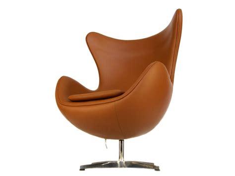 fauteuil egg arne jacobsen caramel