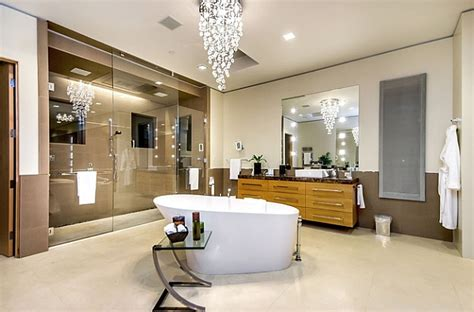 Spa Type Bathrooms by Dramatic Cascading Chandeliers Unleash Visual Splendor And