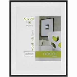 Cadre Bois 50x70 : cadre bois nielsen 60x80 noir avec passe partout 1 ouverture 50x70 cadre cadre miroir ~ Teatrodelosmanantiales.com Idées de Décoration