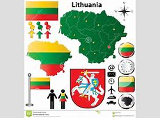 Lithuania map stock photo Image of administrative