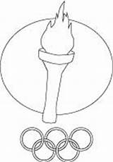 Torch Olympic Coloring Printable Pages sketch template