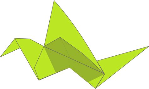 Origami Flying Bird Small Clipart 300pixel Size, Free Design