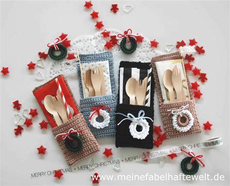 tischdekoration weihnachten selber machen tischdeko selbermachen bestecktaschen h 228 keln zu weihnachten meine fabelhafte welt