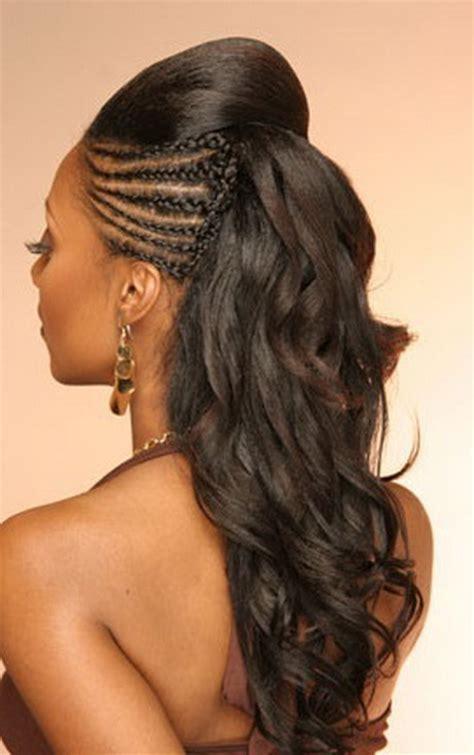 Half braided hairstyles
