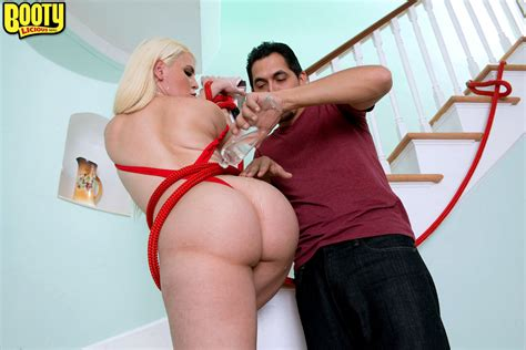 Blonde Bbw Bedeli B Is Tied Up With Rope Leaving Her Big