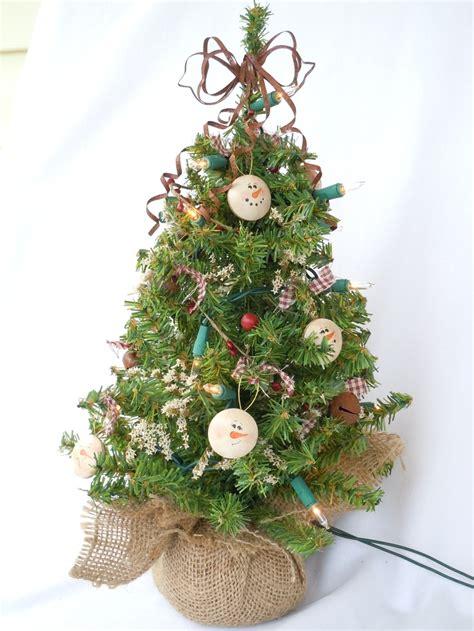 rustic snowman table top christmas tree christmas trees