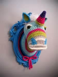 Crochet Unicorn Head