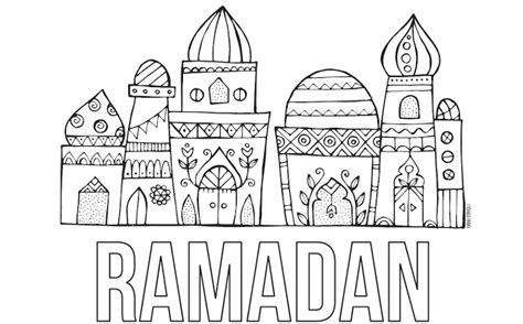 masjid coloring worksheets coloring pages