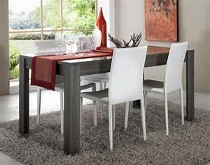 Table Chene Gris : table rectangulaire italienne 160 cm coloris ch ne gris ~ Teatrodelosmanantiales.com Idées de Décoration