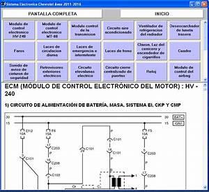 Diagramas De Sistema El U00e9ctrico De Chevrolet Aveo 2011