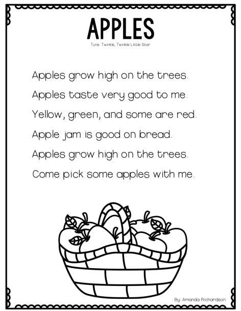 all about apples and a poetry freebie poem and apples 566 | a1d3d334a2dfec169bdb487ba65f6d9b