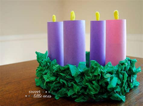sweet   advent wreath craft