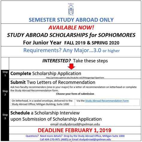 study abroad scholarships spelman college