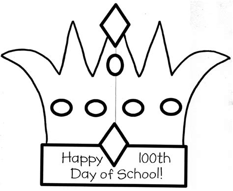 100th Day Of School Crown Template 70 Popular 100 Days Of School Activities Crafts Tip Junkie