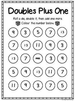 Doubles Plus One Bingo By Time Saver Thomas  Teachers Pay Teachers