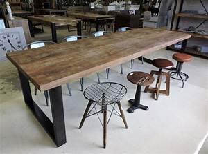 Table A Manger Industrielle : les tables ~ Melissatoandfro.com Idées de Décoration