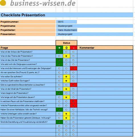 projekt praesentationen vorbereiten checkliste business