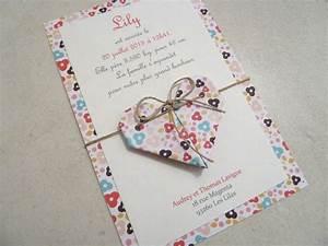 Origami Fleur Coeur D étoile : faire part de naissance bapt me carte de remerciement ~ Melissatoandfro.com Idées de Décoration