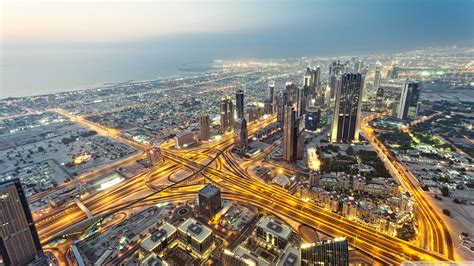 View From Burj Khalifa Dubai 4k Hd Desktop Wallpaper For