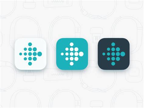 fitbit iphone fitbit app icon update by jason zigrino dribbble