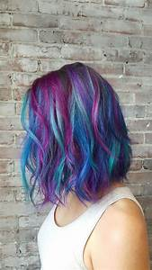 25 Bsta Iderna Om Galaxy Hair P Pinterest Frgglatt Hr