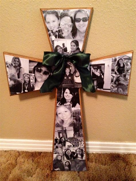 mod podge cross    birthday gift