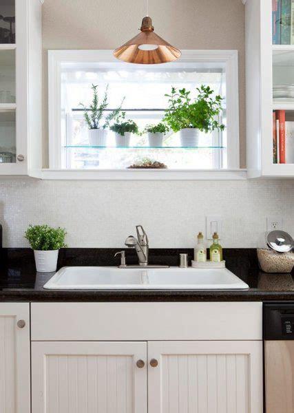 Kitchen Window Herb Garden by Seven Stylish Treatments For Your Kitchen Sink Window