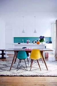 peinture credence bleu turquoise dans cuisine blanche With de quelle couleur peindre son salon 11 le turquoise une couleur tendance 224 la maison deco