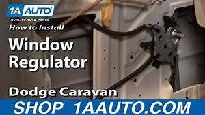 How To Replace Window Regulator 96-00 Dodge Caravan