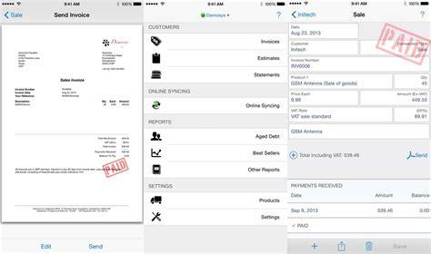 invoice maker apps  iphone  ipad