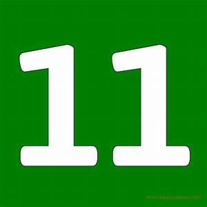 Number Eleven Clipart - Clipart Suggest