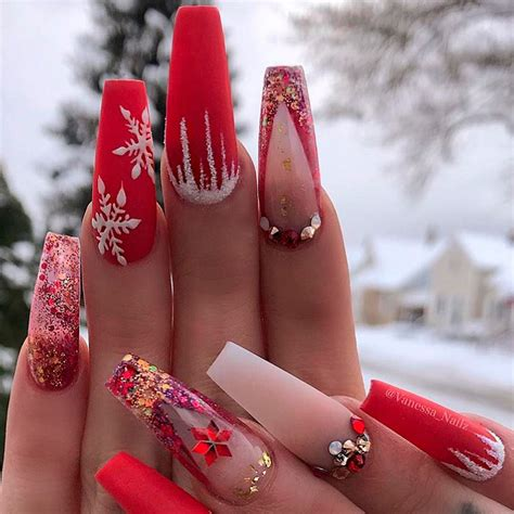 2018 christmas nails theme the best coffin nails ideas that suit everyone