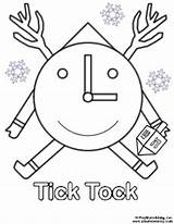 Tick Coloring Tock Template Pages Templates Please sketch template