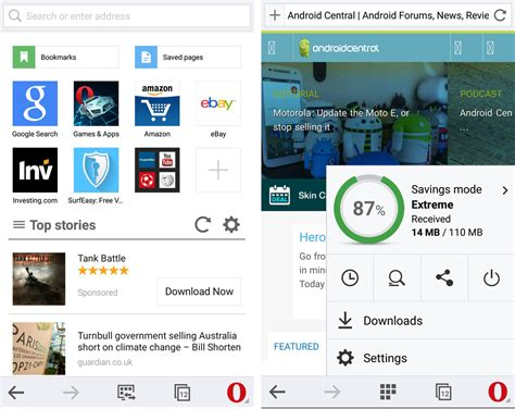 opera mini for android tablet