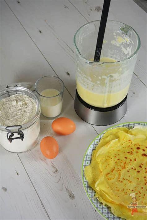 recette de cuisine avec blender recette pâte à crêpes express au blender lolibox