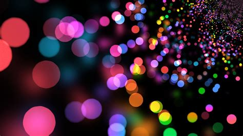 wallpaper colorful lights circles abstract 7414