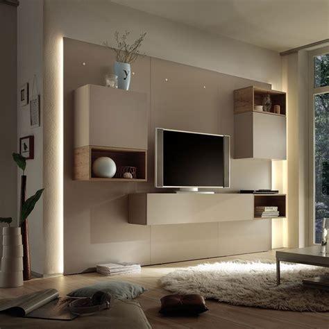 ensemble meuble tv lumineux laque beige moderne ensemble