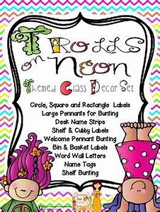 Classroom Decor Neon Trolls Theme by Georgia Grown Kiddos