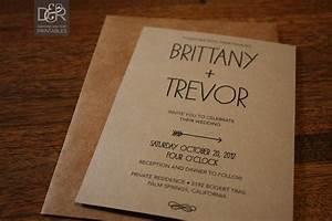 rustic woodsy printable wedding invitation suite by With free wedding invitation suite printables