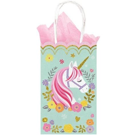 monster jam truck party supplies magical unicorn glittered paper treat bags w handles x 10
